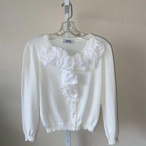 Moschino Cheap & Chic Flower Cardigan Sweater
